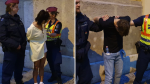 Yun (Lucy) Lu Li and Oliver Karafa (right) are seen here following their arrest on first-degree and attempted murder charges in Budapest on Saturday, June 12, 2021. (Hungarian National Police)