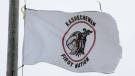 A Kashechewan First Nation flag is seen in this file photo. THE CANADIAN PRESS/Jonathan Hayward