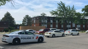 Windsor police attend the scene in the 2600 block of Sycamore Drive in Windsor, Ont. on Wednesday, June 16, 2021. (Gary Archibald/CTV Windsor)