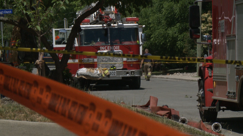 Emergency crews respond to a call for a fatal fire on Parker Street in Aylmer, QC on Wednesday, June 16, 2021. (Jim O'Grady/CTV News Ottawa)