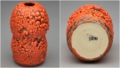 Photos posted by auction site Heffel show a vase created by actor Seth Rogan.