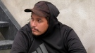 Stylus Assiniboine has been homeless for a month and a half since being released from jail. (Francois Biber/CTV Saskatoon)