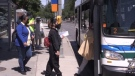 LTC bus in London, Ont. on June 16, 2021. (Daryl Newcombe/CTV London)