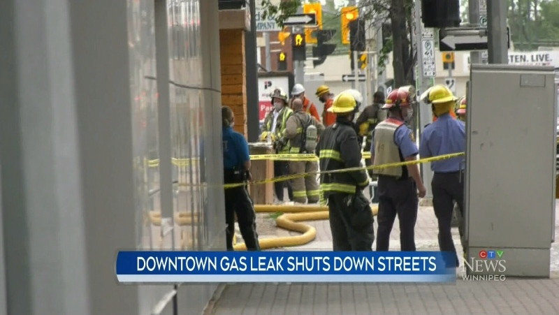 Gas leak caused closures downtown