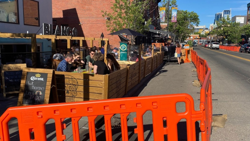 City officials have heard complaints about accessibility around some pop-up patios at Calgary businesses.