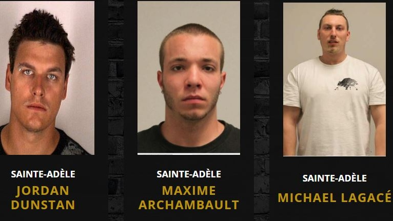 Quebec provincial police are searching for Jordan Dunstan, Maxime Archambault and Michael Lagace, who disappeared from a Ste-Adele therapy centre in violation of a court order. (Photos: Surete du Quebec)
