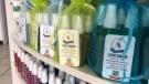Hand sanitizer made by Kanatan Health Solutions. June 16, 2021. (John Hanson/CTV News Edmonton)