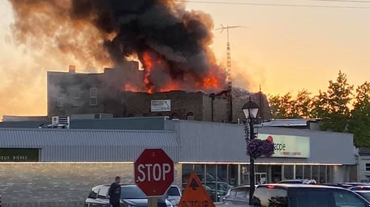 Fire in Forest, Ont.