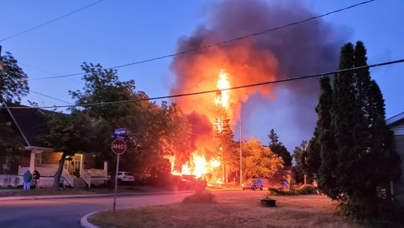 A father and son are dead after an early Wednesday morning fire on Parker Street in Aylmer. (Courtesy: David Little)