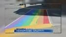 Pride crosswalk damaged in Orangeville