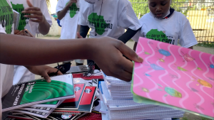 School supplies were donated to Ottawa newcomers from Africa Wednesday night to encourage and inspire youth. (Jackie Perez/CTV News Ottawa)