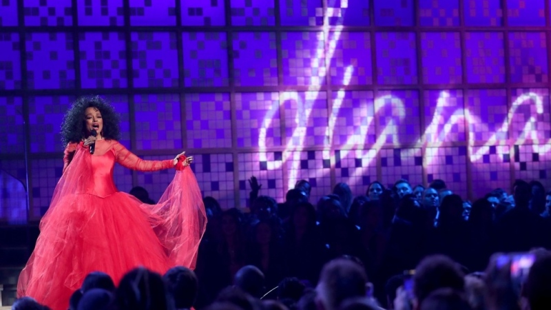 Diana Ross performs a medley at the 61st annual Grammy Awards in Los Angeles, on Feb. 10, 2019. (Matt Sayles / Invision / AP)