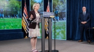 Dr. Bonnie Henry makes an announcement in Victoria on June 14, 2021. (Province of BC/Flickr)