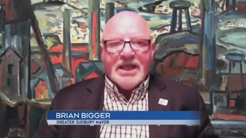 Greater Sudbury Mayor Brian Bigger. June 16/21 (CTV Northern Ontario)
