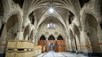 The Hall of Honour, facing the entrance to Centre Block, is seen during a media tour of Centre Block renovations on Parliament Hill in Ottawa, on Wednesday, June 16, 2021. THE CANADIAN PRESS/Justin Tang