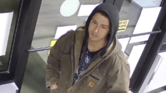 Edmonton police are hoping to identify a man accused of assault, theft, and arson after a Jan. 6 incident at an east-end liquor store. (Image Source: Edmonton Police Service)