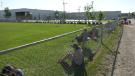 People lined up outside Leila vaccination supersite on Thursday, June 17 (Gen Gabel, CTV News)