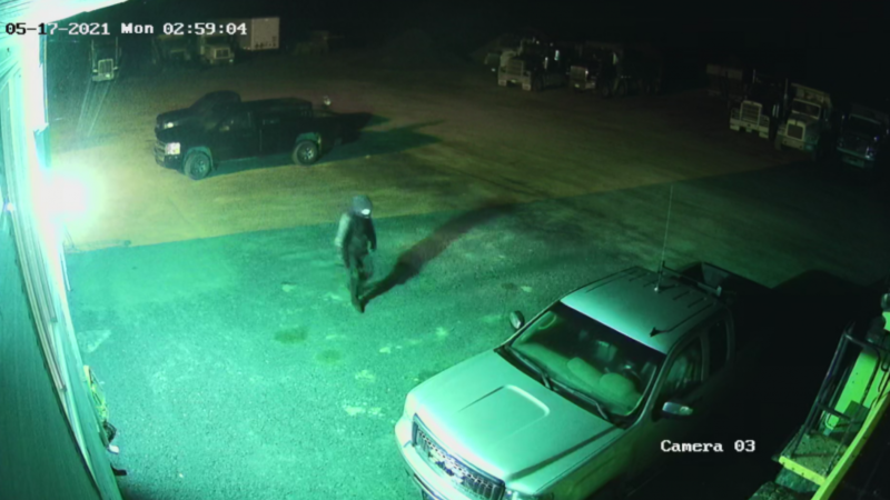According to police, two catalytic converters were stolen off parked vehicles at a business on Rue Industrielle on May 17. Police believe the thefts happened sometime between 2:45 a.m. and 3:30 a.m. (Photo courtesy: RCMP)