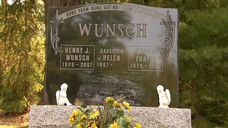 Henry Wunsch's family believed his ashes were buried at a cemetery near Mattawa, Ont. Four days after the burial, they received a call stating the body was at a crematorium.