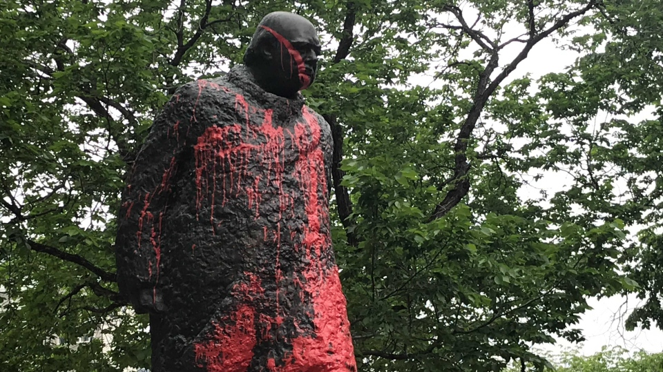 Winston Churchill Statue Vandalized
