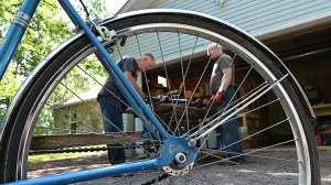 Bill Ryan of eastern Ontario is collecting bicycles to send to Cuba. (Joel Haslam/CTV News Ottawa)