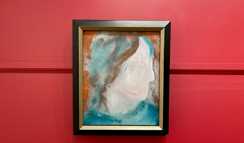 An individual who is remaining anonymous purchased a $5 painting from the Macher Mall last summer. It turns out the painting was done by famous musician and artist David Bowie and is now being auctioned off for more than $38,000. (Supplied)