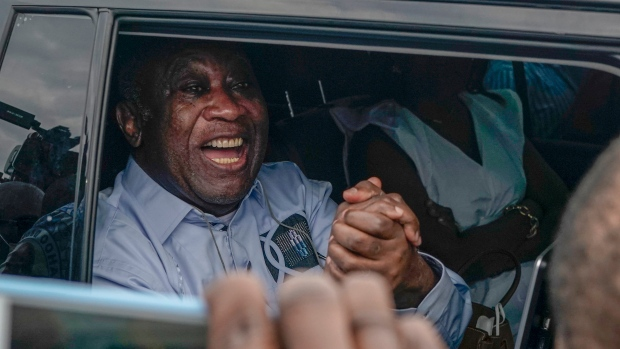 Ex-President Gbagbo back in Ivory Coast after acquittal