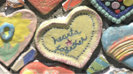 Some of the hearts made by Saanich residents are shown: (CTV News)