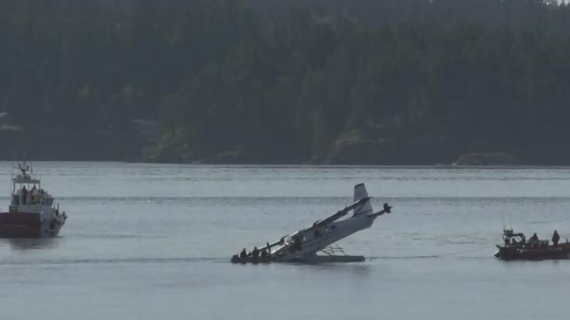 Pilot uninjured after hard landing on Mid-Island