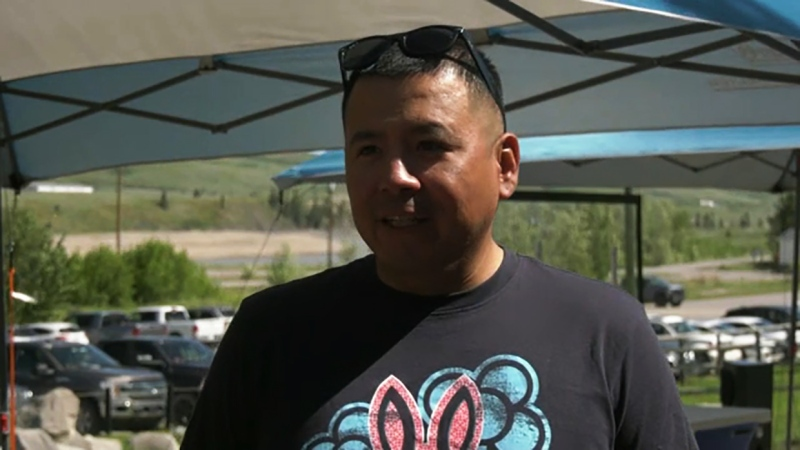 A pair of Olympians visited Stoney Nakoda First Nation Thursday to promote the vaccination clinic in Morley.