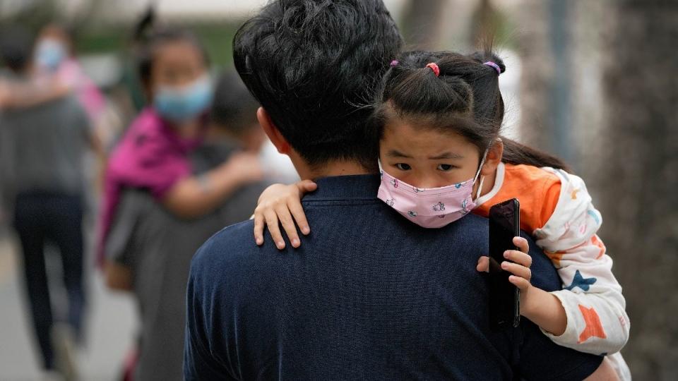 Heading to a kindergarten in Beijing
