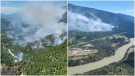 Photos posted on Twitter by the B.C. Wildfire Service show a fire near Lytton, B.C., on Thursday, June 17, 2021.