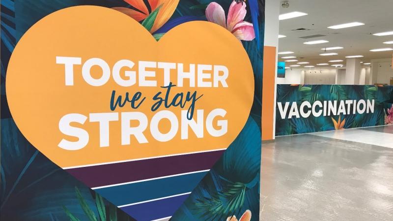 Mass vaccination clinic at Devonshire Mall (Michelle Maluske, CTV Windsor)