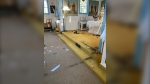 RCMP are investigating an incident of vandalism June 15, 2021 at a historic, though no longer used Ukrainian Catholic Church in Fisher Branch, Man. (Photo: Ron Malkowich)
