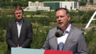 Alberta Premier and Health Minister Tyler Shandro announced on June 18, 2021, the province had vaccinated 70 per cent of its eligible population with at least one dose of COVID-19 vaccine, triggering the end of public health restrictions two weeks later on July 1.