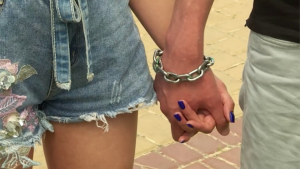 Couple handcuffed for four months calls it quits
