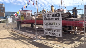 Multiple construction sites have blocked off large sections of the Halifax boardwalk. It is a mixture of private development and municipal upgrades.
