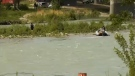 A woman's body was pulled from the Bow River Friday.