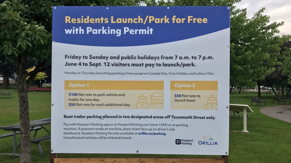 Orillia parking sign