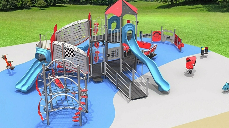 London family funding accessible playground