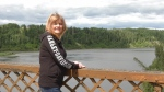 Nipawin resident Connie Morrow wants the province to repair the old Nipawin bridge for vehicle traffic. (Jayda Taylor/CTV Prince Albert)