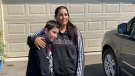 Nik Couture, 11, and his mother Rieanna Couture are seen in this photograph taken on June 18, 2021. (John Musselman/CTV News Toronto)