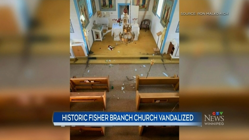 Historic church in Fisher Branch vandalized