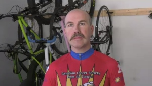 Glen Polson will be cycling up and down Bear Mountain about 34 times to reach his goal: (CTV News)