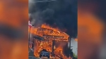 Witnesses describe fire at island gas station