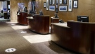 The empty reception area at the Sheraton hotel is seen in Montreal, on Wednesday, November 18, 2020. The Quebec government announced a $65 million investment towards the dwindling tourism industry. THE CANADIAN PRESS/Paul Chiasson