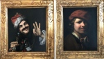 A side-by-side composite image of the two 17th century paintings found in a dumpster in Germany are seen here. (Twitter/Cologne Police/Polizei NRW K)