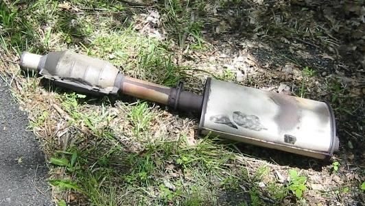 muffler and catalytic converter