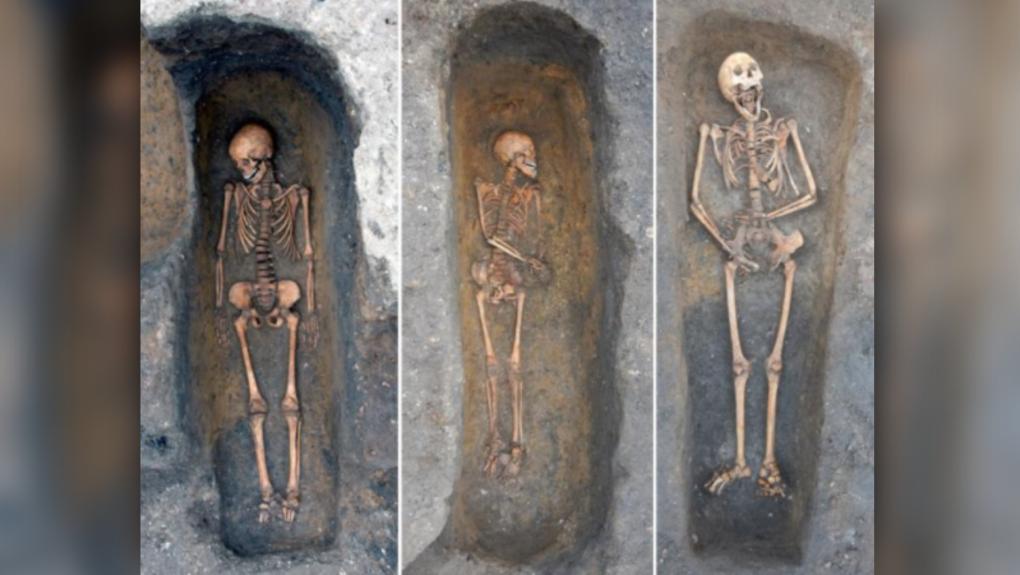 Plague victims Cambridge U.K.