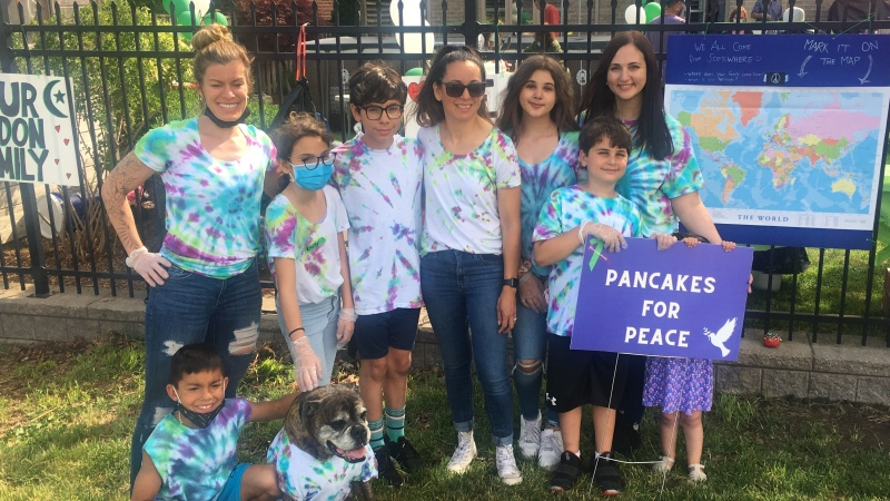"""Organizers of """"Pancakes for Peace' raised $1800 for Afzaal Family Saturday, June 19, 2021 (Brent Lale/CTV News)"""